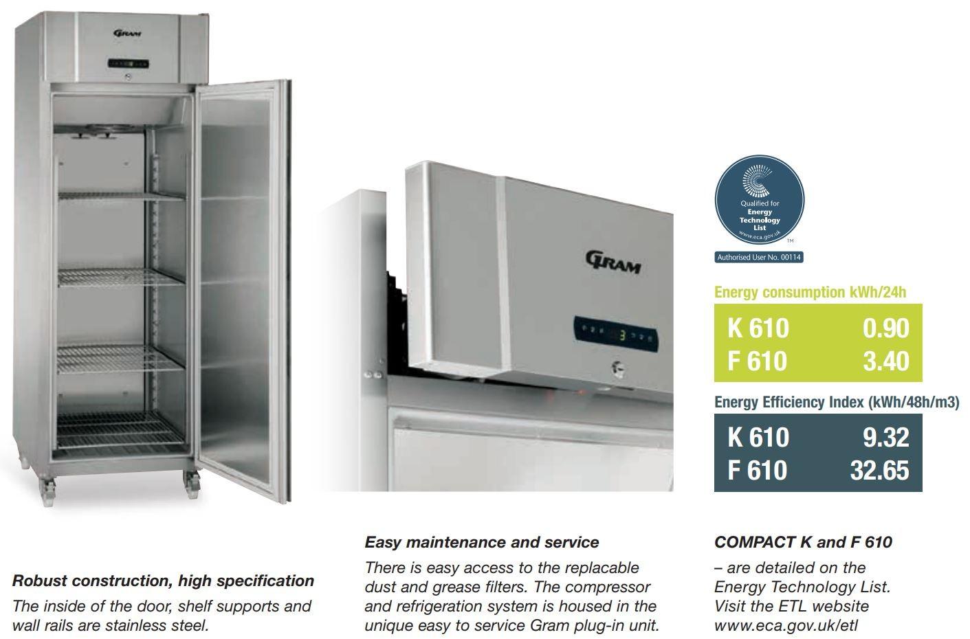 Gram Compact F 610 Rg C 4n Single Door Freezer