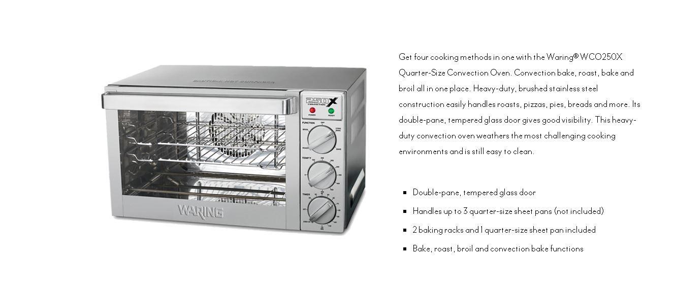 Waring Wco250xk Convection Oven Capacity 25 Litres Cf235