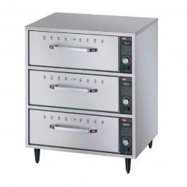 Hatco HDW-3N Freestanding Narrow Three Drawer Warmer