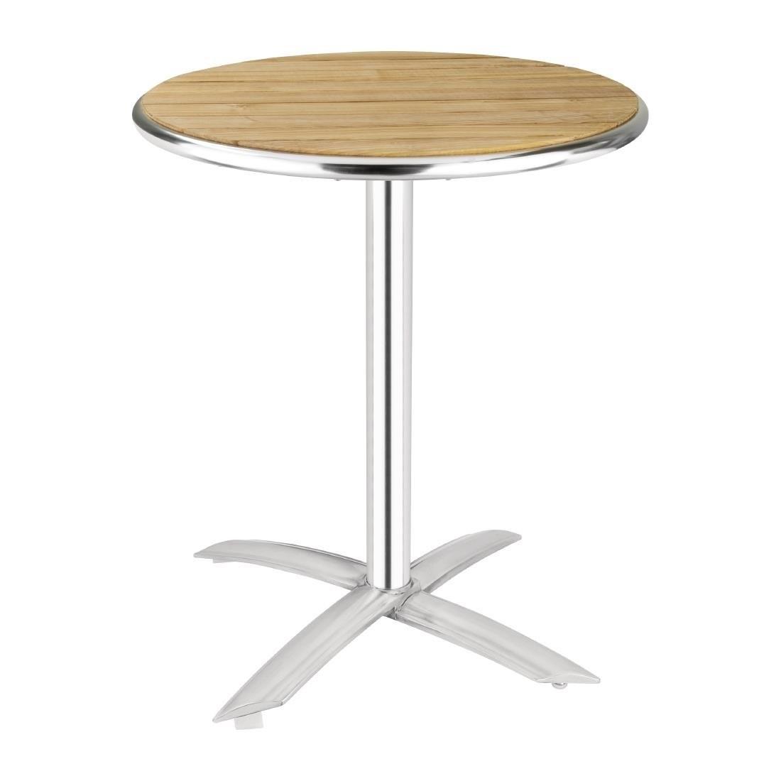Bolero Flip Top Bistro Table Square Ash 600mm GK991  Cafe Restaurant Bar