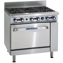 Imperial IR6 6 Burner Oven Range 4