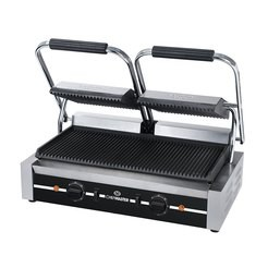 Chefmaster HEA789 Double Contact Grill - Ribbed