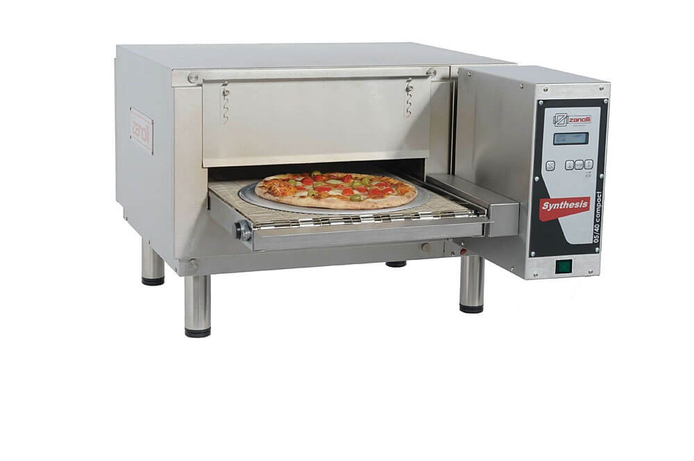 """Zanolli 05/40V Compact Automated 16"""" Electric Conveyor Pizza Oven"""