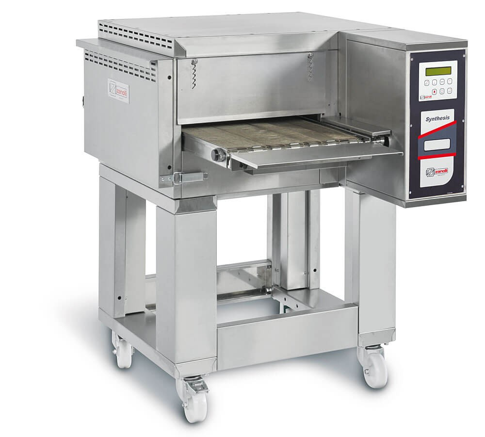 """Zanolli Synthesis 06/40V Gas 16"""" Automated Conveyor Pizza Oven + Stand"""