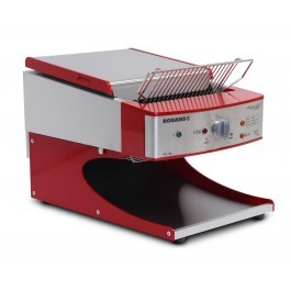Roband ST500AR Red Sycloid Toaster with Speed Lock - 500 Slices per Hour