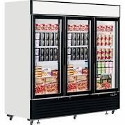 Interlevin LGF7500 Glass Triple Door Display Freezer