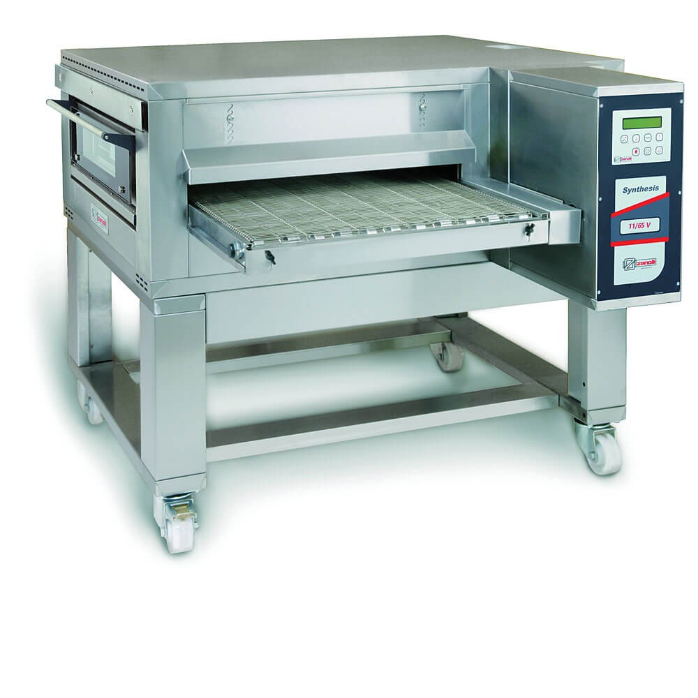 """Zanolli Synthesis 11/65V Gas 26"""" Automated Conveyor Pizza Oven + Stand"""