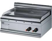 Lincat GS7/R Silverlink 600 Half Ribbed Steel Plate Griddle
