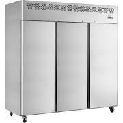 Interlevin CAR1390 Stainless Steel Tripple Solid Door Refrigerator