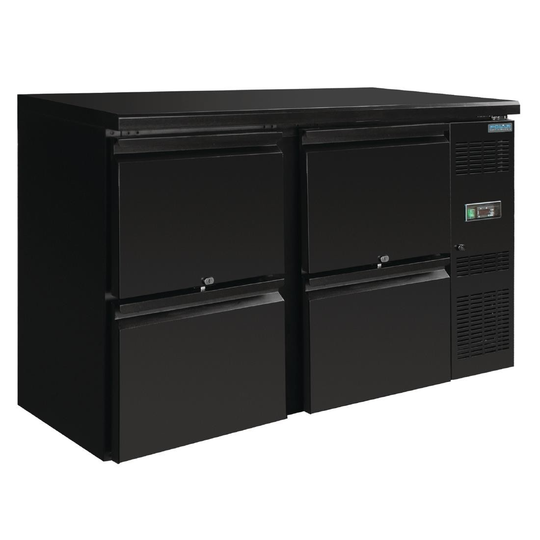 Polar GL455 U-Series Four Drawer Back Bar Counter Fridge