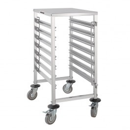 Vogue GG498 Stainless Steel Gastronorm 1/1 Racking Trolley 7 Level