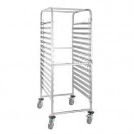 Vogue GG499 Stainless Steel Gastronorm Racking Trolley 15 Level