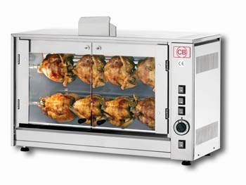 CB Rotisseries G8P-S2 Two Spit Gas Chicken Rotisserie