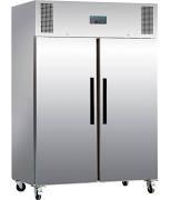 Polar G595 Stainless Steel Double Door Upright Freezer