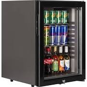 Tefcold TM42G Black Minibar with Glass Door
