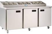 Foster FPS3HR 3 Door Refrigerated Prep Counter