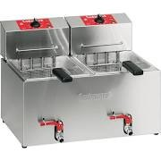 Valentine TF77T Twin Pan Two Basket Table Top Electric Turbo Fryer