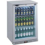Lec Commercial BC6007G LED Standard Single Door Silver Bottle Cooler
