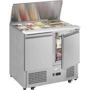 Interlevin ESA900 2 Door Gastronorm Saladette Counter Fridge 4