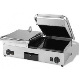 Maestrowave MEMT17061 Ceramic Ribbed Top & Flat Bottom Double Contact Grill