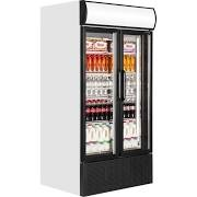 Tefcold FSC1000H Double Hinged Glass Door Upright Refrigerator 3