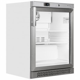 Tefcold UF200VG Glass Door White Display Freezer with Fan Assisted Cooling