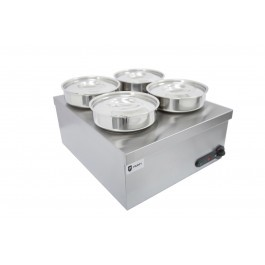 Parry 1939 Electric Dry Heat Bain Marie with Four Round Pots