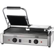 Dualit 96002 Ribbed Top Flat Bottom Twin Contact Grill