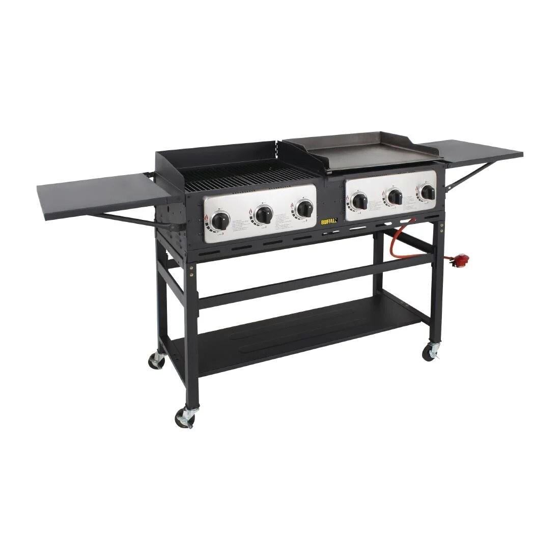 Buffalo CP240 Six Burner Gas Combi BBQ Grill and Griddle