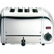 Dualit 43021 4 Slot Bun Toaster Polished