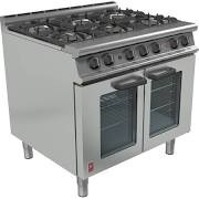 Falcon G3106 Dominator Plus Six Burner with Fan Assisted Gas Oven