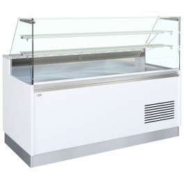 Interlevin BELLINI ID 2050FV CR Serve Over Counter with Flat Glass & Storage