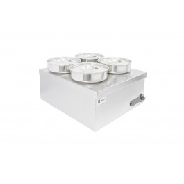 Parry 3015 Wet Heat Bain Marie with 4 Round Pots