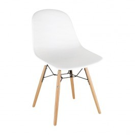 Bolero DM840 White Polypropylene Arlo Shell Side Chair with Steel Frame - Pack 2