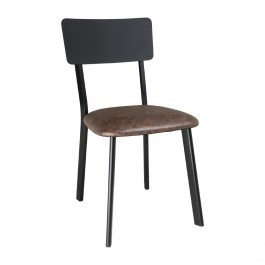 Bolero DR301 Metal & PU Side Chairs Vintage Mocha - Pack of 4
