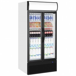 Tefcold FSC890HP Double Hinged Glass Door Upright Refrigerator