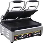 Buffalo L554 Contact Grill Double Ribbed Flat