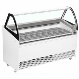 ISA BERMUDA VIEW RV13 White 13 Pan Ventilated Scoop Ice Cream Display