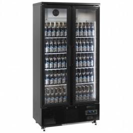Elstar EM500H Twin Upright Black Bottle Cooler with LED Lights & Lock