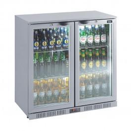 Lec  BC9007G LED Hinged Door Silver Bottle Cooler 1