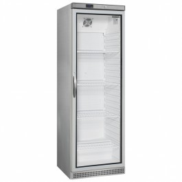 Tefcold UR400SG Stainless Steel Glass Door Merchandiser With LED Interior Light