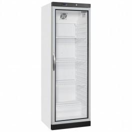 Tefcold UR400G White Glass Door Merchandiser With LED Interior Light