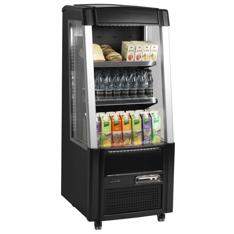 Tefcold ODC60 Low Height Black Multideck with Nightblind