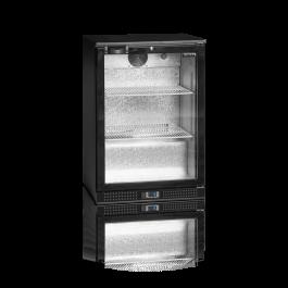 Tefcold DB125H Black Hinged Single Door Bottle Cooler - 122 Litres