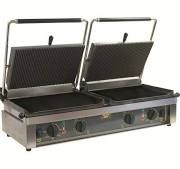 Roller Grill Double PANINI L Ribbed Top & Ribbed Base Contact Grill 2
