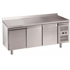 Chefsrange RC3HU Three Door 1/1GN Size Fridge Counter with Rear Upturn & Casters