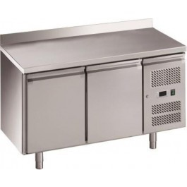 Chefsrange RC2HU Two Door 1/1GN Size Fridge Counter & Rear Upturn & Casters