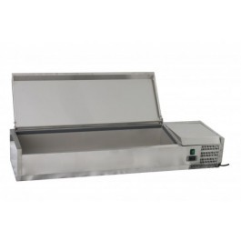 Chefsrange TU140013L Topping Well with Lid 4 x 1/3GN + 1 x 1/2GN - 1400mm