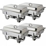 Olympia S299 Milan Set of Four Chafing dishes