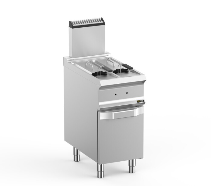 Hobart Ecomax HEFRG74A2V Double Well Freestanding Gas Fryer - 2 x 7 Litres